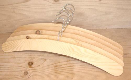 Zirbenholz Kleiderbügel 40,5 cm, 5 Stück