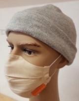 Behelfs-Mund-Nasen-Maske natur